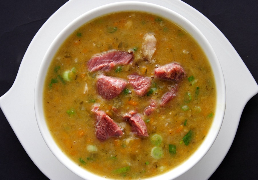 Гороховый суп рецепт с ребрышками копчеными рецепт пошагово