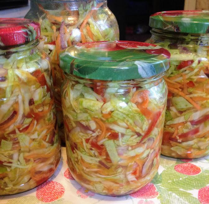 Осенний салат на зиму рецепт