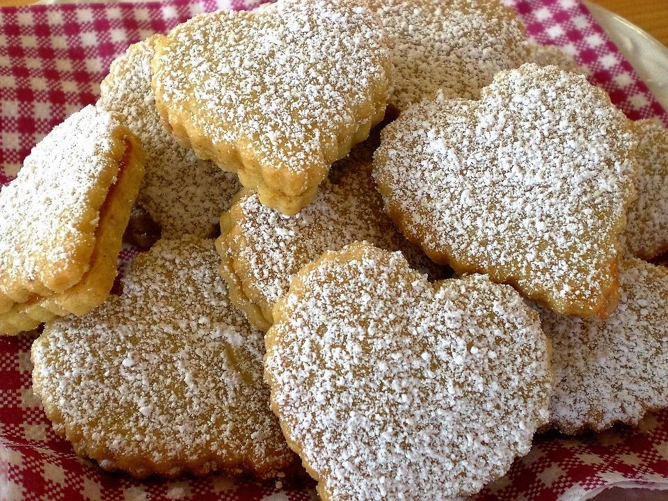 Печенье песочные сердечки